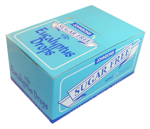 Johnsons Sugar Free Eucalyptus Drops, by Johnsons Confectionery,  and more Confectionery at The Professors Online Lolly Shop. (Image Number :3780)