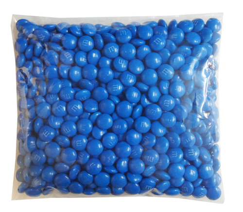 Single Colour M&M s - Blue, by Mars,  and more Confectionery at The Professors Online Lolly Shop. (Image Number :8285)