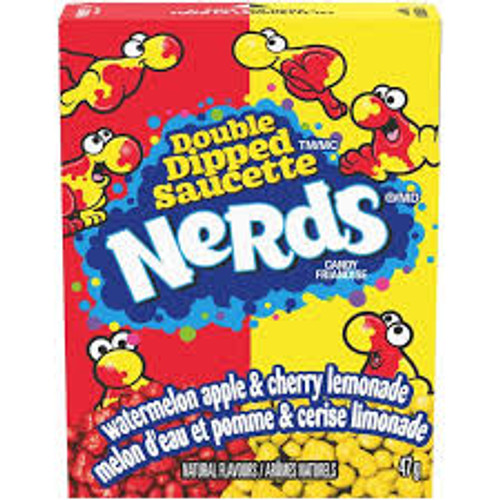 Nerds - Double Dipped lemonade wild cherry & apple watermelon, by Wonka,  and more Confectionery at The Professors Online Lolly Shop. (Image Number :15449)