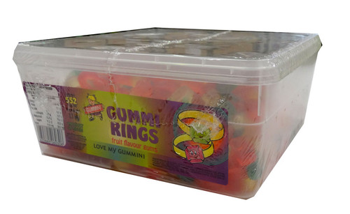 Gummini Rings, by AIT Confectionery,  and more Confectionery at The Professors Online Lolly Shop. (Image Number :4602)