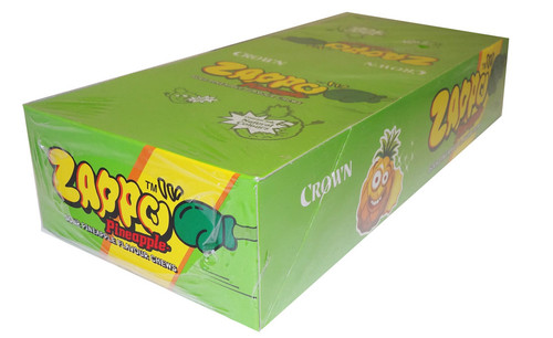 Zappo - Pineapple Chews, by Crown Confectionery,  and more Confectionery at The Professors Online Lolly Shop. (Image Number :4480)