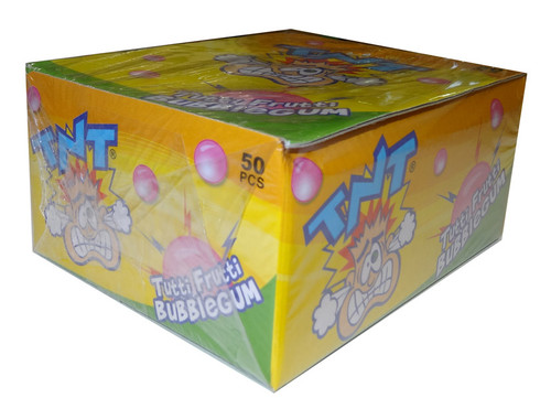 TNT Tutti Frutti Bubble Gum, by AIT Confectionery/TNT,  and more Confectionery at The Professors Online Lolly Shop. (Image Number :4517)