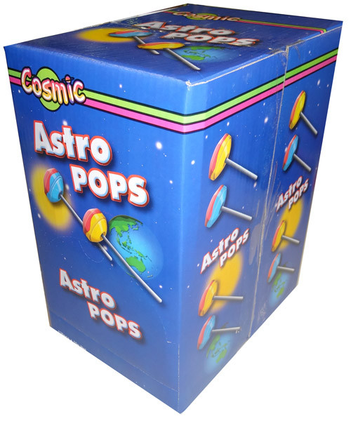 Cosmic Astro Pops, by AllFect Distributors,  and more Confectionery at The Professors Online Lolly Shop. (Image Number :4413)