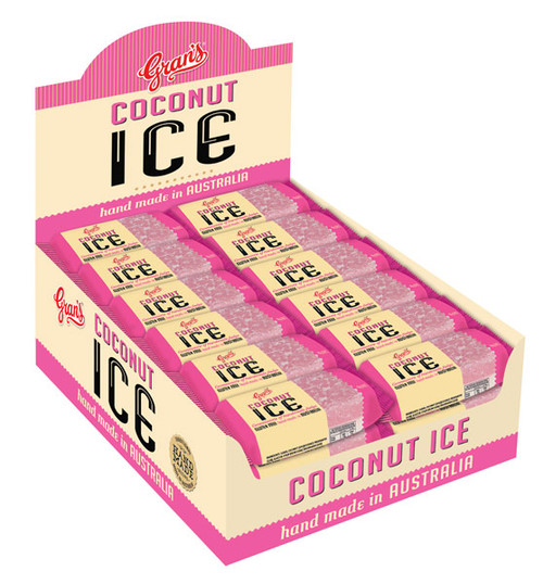 Grans - Coconut Ice, by Grans,  and more Confectionery at The Professors Online Lolly Shop. (Image Number :10292)