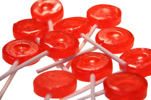 Single Colour Lollipops - Red - Tutti-Frutti Flavour, by Budget Sweets/Other,  and more Confectionery at The Professors Online Lolly Shop. (Image Number :4270)