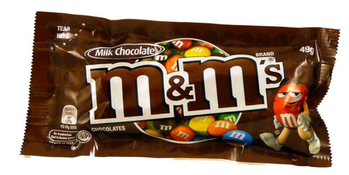 M&M Milk Chocolate  - Snack Size, by Mars,  and more Confectionery at The Professors Online Lolly Shop. (Image Number :4284)