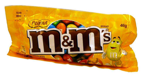 M&M Peanut - Snack Size, by Mars,  and more Confectionery at The Professors Online Lolly Shop. (Image Number :4285)