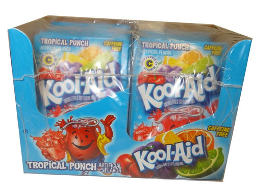 Kool Aid Pack  - Tropical Punch, by Kool Aid,  and more Beverages at The Professors Online Lolly Shop. (Image Number :4686)