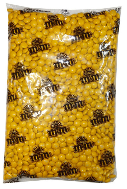 Single Colour M&M s - Gold, by Mars,  and more Confectionery at The Professors Online Lolly Shop. (Image Number :8238)