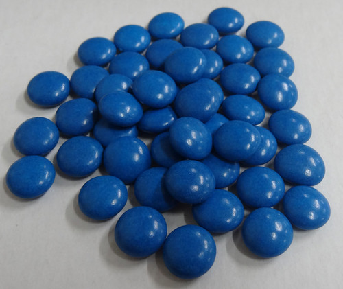 Candy Buffet Buttons - Mid Blue, by The Professors Tasty Technology,  and more Confectionery at The Professors Online Lolly Shop. (Image Number :4964)