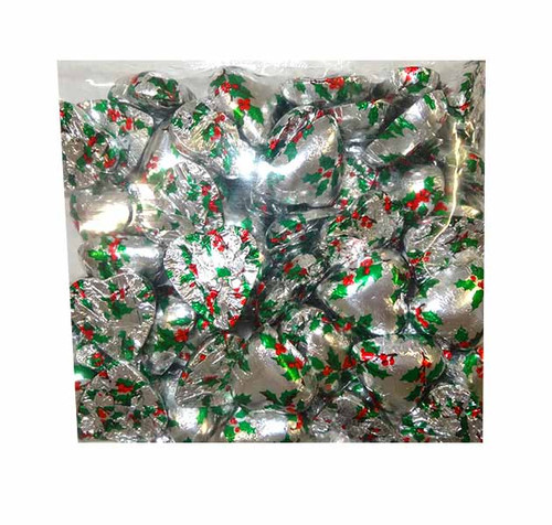 Chocolate Gems - Chocolate Hearts - Holly Foil, by Chocolate Gems,  and more Confectionery at The Professors Online Lolly Shop. (Image Number :10306)