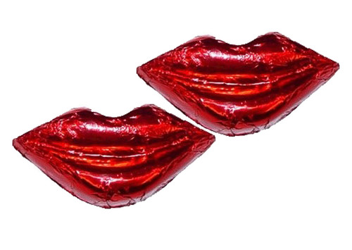 Chocolate Gems - Chocolate Kisses - Red Foil, by Chocolate Gems,  and more Confectionery at The Professors Online Lolly Shop. (Image Number :8420)