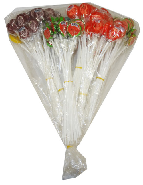 Long Stick Fruit Lollipops, by Dai Foods/Other,  and more Confectionery at The Professors Online Lolly Shop. (Image Number :5333)