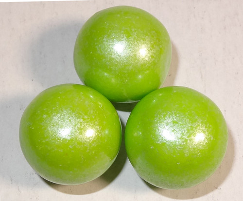 Gumballs - Shimmer Lime Green, by Oak Leaf Confections,  and more Confectionery at The Professors Online Lolly Shop. (Image Number :7383)