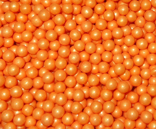 Pearls - Shimmer Orange, by Oak Leaf Confections,  and more Confectionery at The Professors Online Lolly Shop. (Image Number :5500)