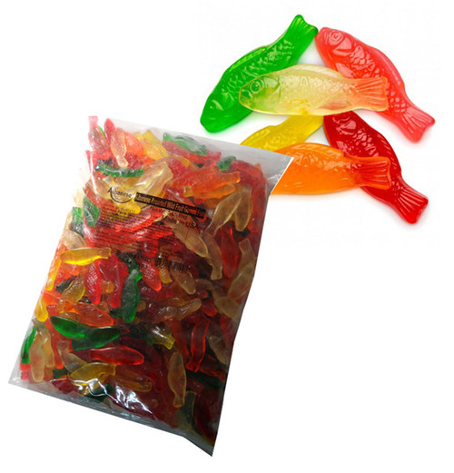 Gummi Fish Assorted Fruit, by Albanese Confectionery,  and more Confectionery at The Professors Online Lolly Shop. (Image Number :7301)