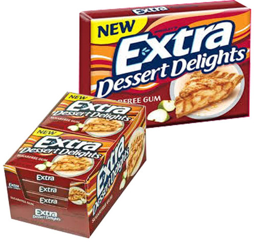 Extra Dessert Delights Apple Pie, by Wrigley,  and more Confectionery at The Professors Online Lolly Shop. (Image Number :6441)