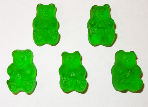 Albanese Gummi Bears Granny Smith Green Apple, by Albanese Confectionery/Other,  and more Confectionery at The Professors Online Lolly Shop. (Image Number :5351)
