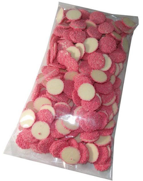 White Choc Sparkles - Pink, by Confectionery Trading Company/Hugos Confectionery,  and more Confectionery at The Professors Online Lolly Shop. (Image Number :5480)