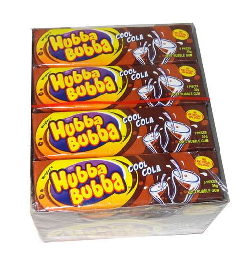 Hubba Bubba Soft Bubble Gum - Cola, by Wrigley,  and more Confectionery at The Professors Online Lolly Shop. (Image Number :5403)