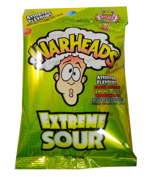 Warheads Extreme Sour Candy Hang Sell Bags, by Warheads,  and more Confectionery at The Professors Online Lolly Shop. (Image Number :5396)