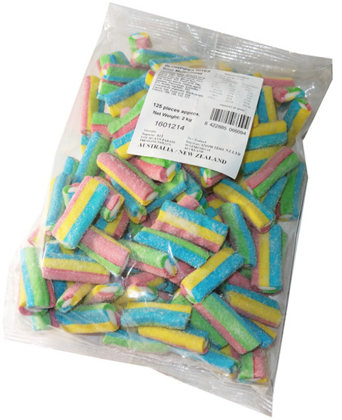 Blowpipes Bites - Sour Multicolour, by AIT Confectionery,  and more Confectionery at The Professors Online Lolly Shop. (Image Number :5534)