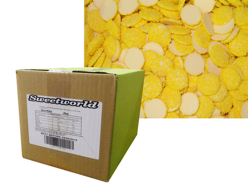 Sweetworld - White Choc Sparkles - Yellow, by Sweetworld,  and more Confectionery at The Professors Online Lolly Shop. (Image Number :6103)