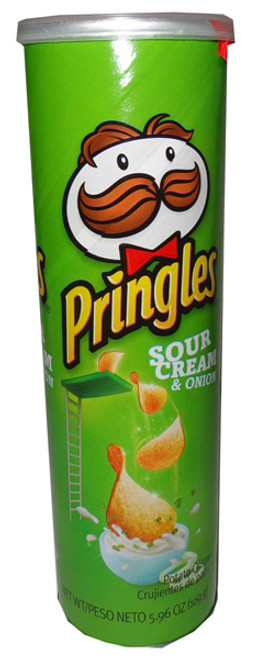 Pringles - Sour Cream & Onion, by Pringles,  and more Snack Foods at The Professors Online Lolly Shop. (Image Number :6449)