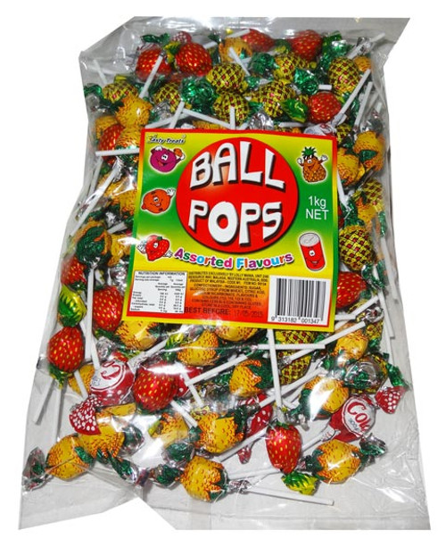 Tasty Treats Ball Pops, by Tasty Treats,  and more Confectionery at The Professors Online Lolly Shop. (Image Number :5543)