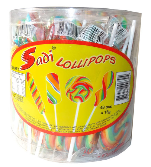Sadi Lollipops, by Lolly Mania/Other,  and more Confectionery at The Professors Online Lolly Shop. (Image Number :5553)