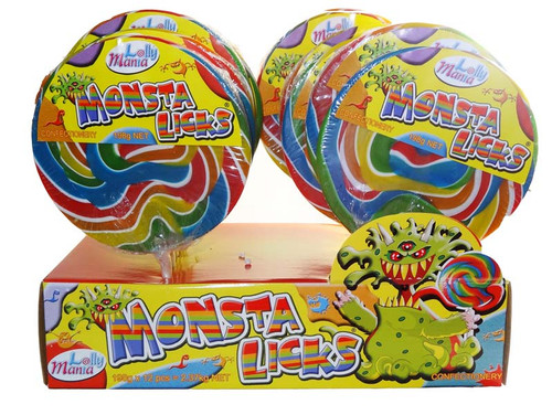 Monsta Licks Lollipops, by Lolly Mania/Other,  and more Confectionery at The Professors Online Lolly Shop. (Image Number :6996)
