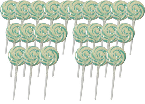Swirl Lollipops - Light Blue Blueberry, by Other/TLBC,  and more Confectionery at The Professors Online Lolly Shop. (Image Number :5697)