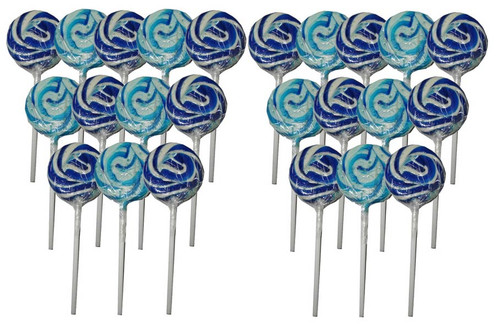 Swirl Lollipops - Dark Blue Blueberry, by Other/TLBC,  and more Confectionery at The Professors Online Lolly Shop. (Image Number :6908)