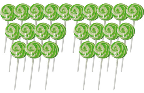 Swirl Lollipops - Apple Green, by Other/TLBC,  and more Confectionery at The Professors Online Lolly Shop. (Image Number :5609)
