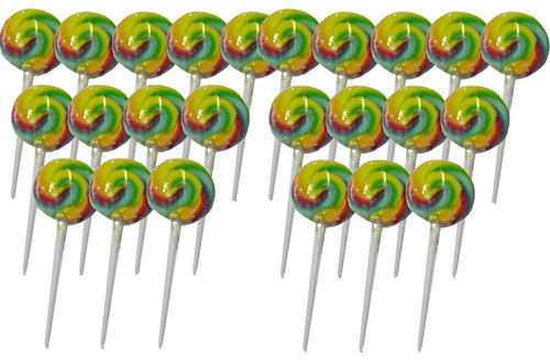 Swirl Lollipops - Rainbow Fruit, by Other/TLBC,  and more Confectionery at The Professors Online Lolly Shop. (Image Number :5612)