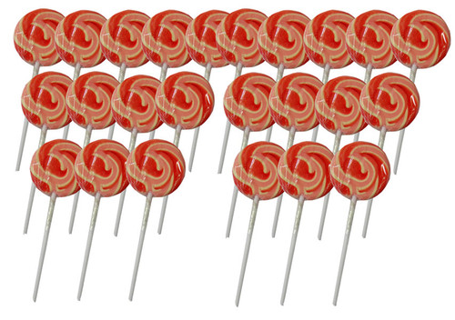 Swirl Lollipops - Strawberry Pink and Red, by Other/TLBC,  and more Confectionery at The Professors Online Lolly Shop. (Image Number :5614)