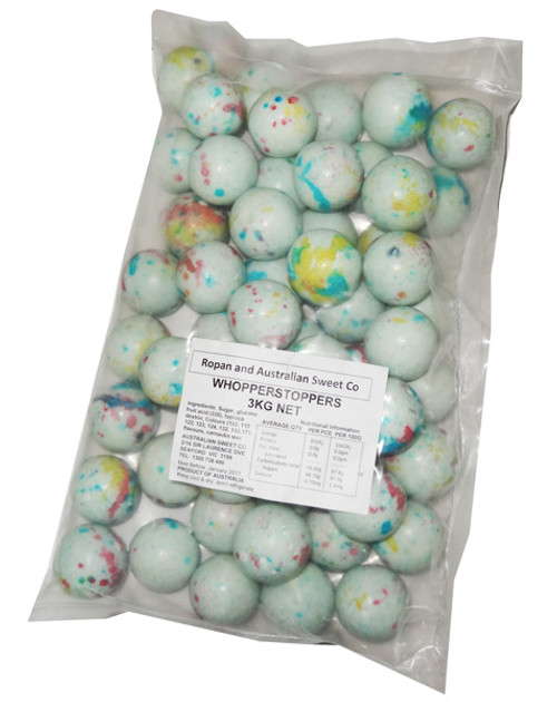 Whopperstoppers - Speckled White, by Ropan Confectionery,  and more Confectionery at The Professors Online Lolly Shop. (Image Number :6163)