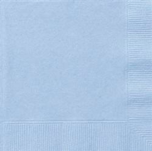 Luncheon Napkins - Baby Blue, by Meteor,  and more Partyware at The Professors Online Lolly Shop. (Image Number :5637)