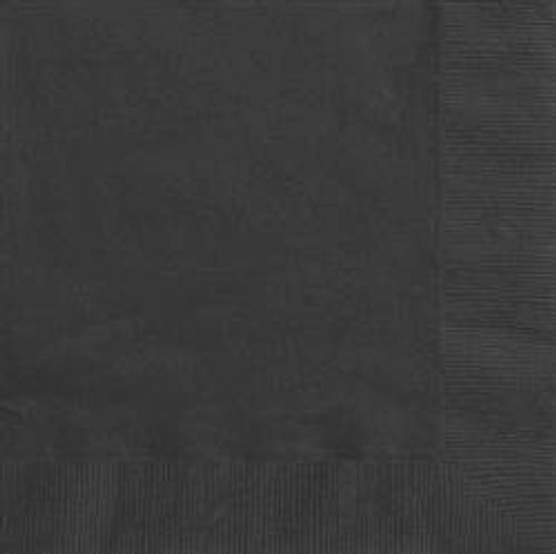 Luncheon Napkins - Black, by Meteor,  and more Partyware at The Professors Online Lolly Shop. (Image Number :5638)