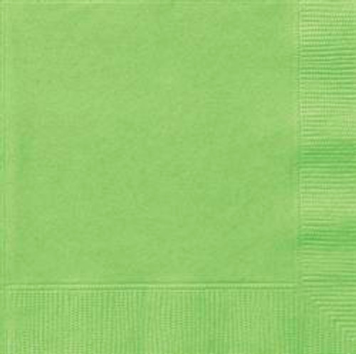 Luncheon Napkins - Lime Green, by Meteor,  and more Partyware at The Professors Online Lolly Shop. (Image Number :5653)