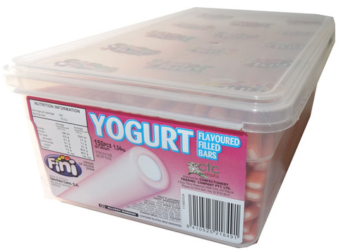 Fini Yoghurt Filled Bars - Strawberry, by Fini,  and more Confectionery at The Professors Online Lolly Shop. (Image Number :5862)