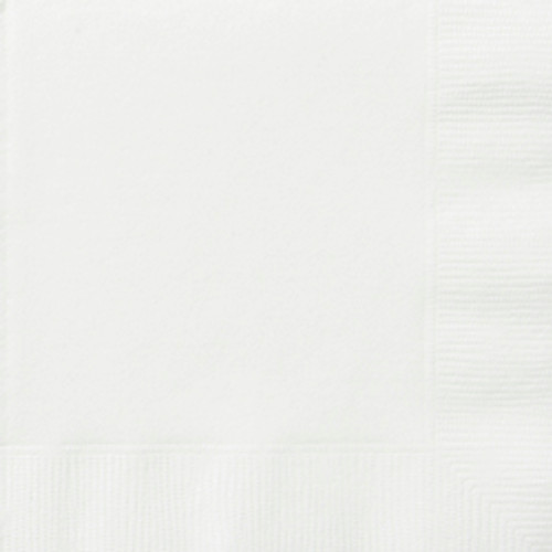 Beverage Napkins - White, by Meteor,  and more Partyware at The Professors Online Lolly Shop. (Image Number :5659)