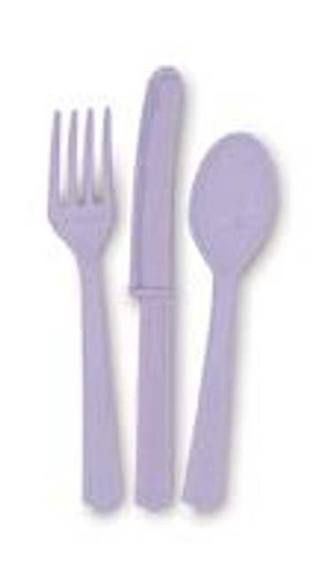Assorted Cutlery - Lavender, by Meteor,  and more Partyware at The Professors Online Lolly Shop. (Image Number :5717)