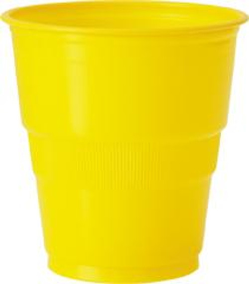 Plastic Cups - Yellow, by Meteor,  and more Partyware at The Professors Online Lolly Shop. (Image Number :5731)