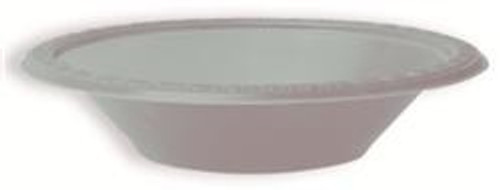 Plastic Bowls - Silver, by Meteor,  and more Partyware at The Professors Online Lolly Shop. (Image Number :5751)