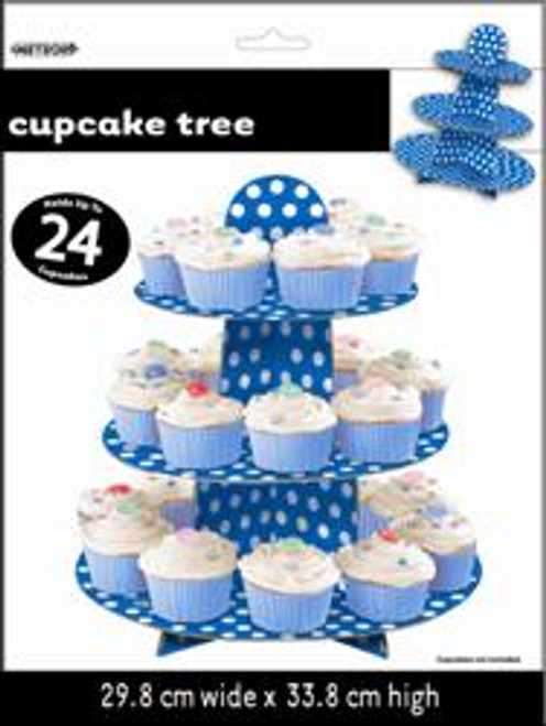 Dots Cupcake Tree - Royal Blue, by Meteor,  and more Partyware at The Professors Online Lolly Shop. (Image Number :5761)