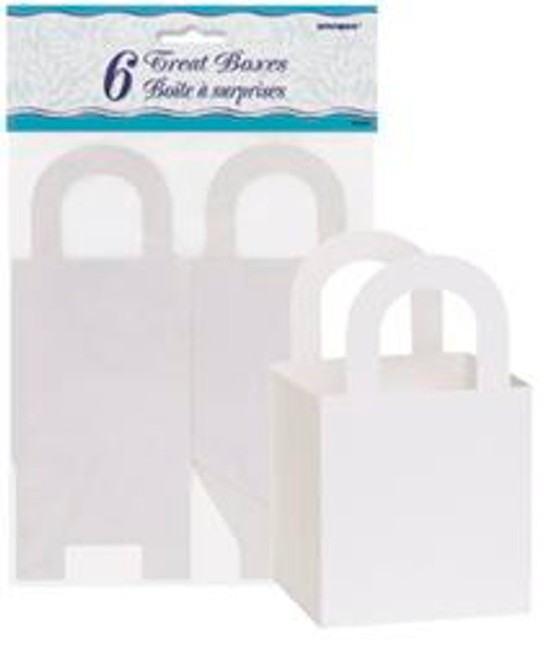 Treat Boxes - White with handles, by Meteor,  and more Partyware at The Professors Online Lolly Shop. (Image Number :5781)