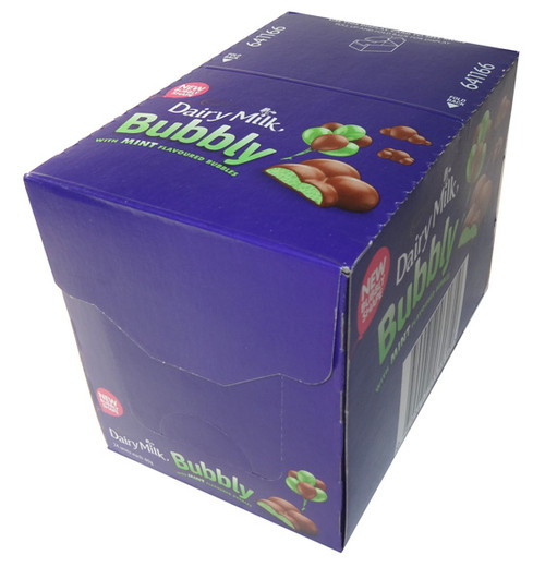 Cadbury Dairy Milk Bubbly with Mint Flavoured Bubbles, by Cadbury/Nestle,  and more Confectionery at The Professors Online Lolly Shop. (Image Number :5847)