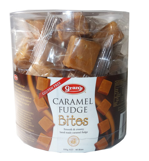 Grans Fudge Caramel Bites, by Grans,  and more Confectionery at The Professors Online Lolly Shop. (Image Number :6066)