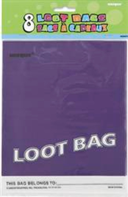 Loot Bags - Purple, by Meteor,  and more Partyware at The Professors Online Lolly Shop. (Image Number :5977)